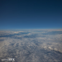 FREE Aerial image: high altitude cloudy