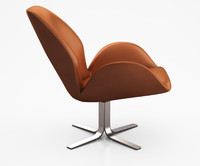 Aluna Leather Swivel Chair by West Elm