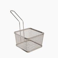 Waffle Grid Mini Fryer Basket Stainless Steel Small