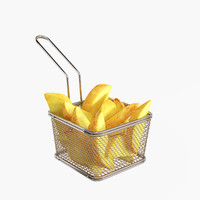 Stainless Steel Small 5 inches Fryer Basket 1 count box
