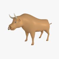Cartoon Bull 1
