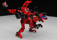 the zoid 2 dino raptor x