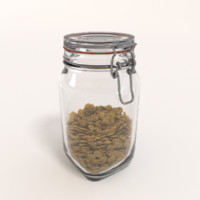 Glass Jar with farfalla pasta
