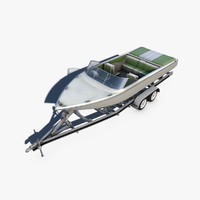 Boat trailer and Motorboat