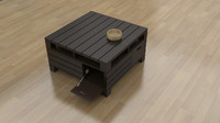 Pallet Coffee Table 3D