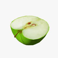 3d real-time cut apple