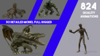 30 Fantasy Creature Full Rigged And Animated