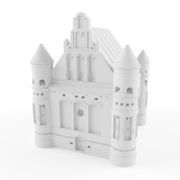 East-european Church. ready for 3d printing