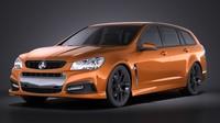 Holden VF Commodore Sportwagon SSV 2014 VRAY 3D Model