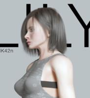 Lily asian girl full body