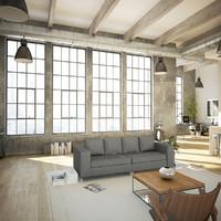 Loft Style Living Room v3