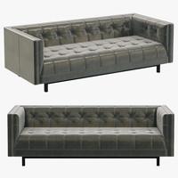 Restoration Hardware Madison Leather Sofa