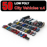 Low Poly City Vehicles vol.4