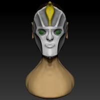 Cartoon pharaon head