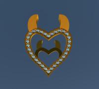 Evil Heart Pendant