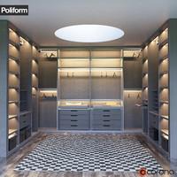 SENZAFINE walk-in closet from Poliform
