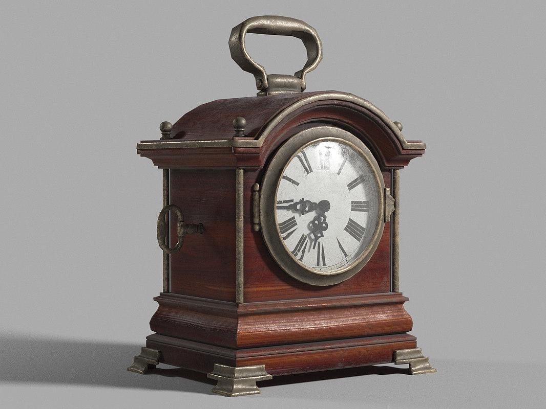 3D max antique clock old