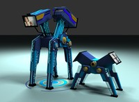 Two robots Dad and son