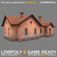 Lowpoly old brick building - old_brick_building_002a.rar