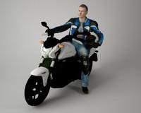 Biker Scanned Model