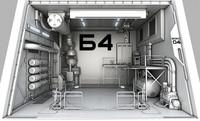 Sci-Fi hangar module