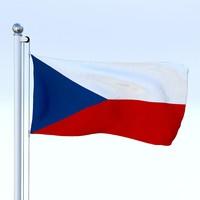 Animated Czech Republic Flag