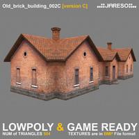Lowpoly old brick building - old_brick_building_002c.rar