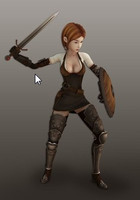 game girl warior