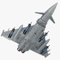 Multirole Fighter Eurofighter Typhoon Rigged