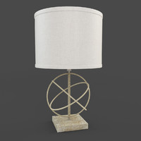 Corman Table Lamp with Drum Shade