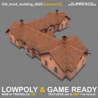 Lowpoly old brick building - old_brick_building_002d.rar
