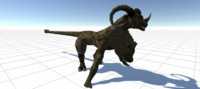Creature - Chimera Full Rigged And Animated