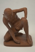Boy Playing Marble statue