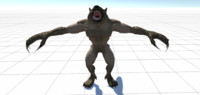 Creature - Werewolf Full Rigged And Animations