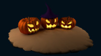 High poly Halloween Pumpkins
