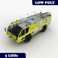 Fire Truck Rosenbauer 4x4 Australia With LODs