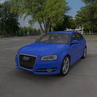 audi a3 sportback 3d model