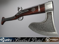 Flintlock Axe-Gun - model and textures