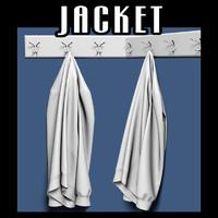 Jacket on coat rack