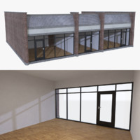 Strip mall store unit five with interior full