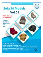 sofa 3d model collection vol 1