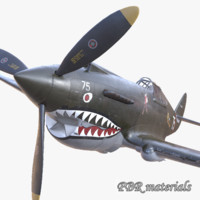 P-40 USA fighter WW2 PBR