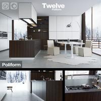 Kitchen Poliform Varenna Twelve (vray+corona)