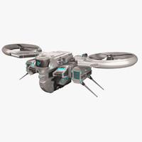 sci fi drone 3 3d max