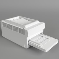 3d model pc computer printer nr