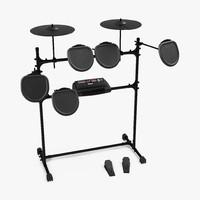 professional electric drum kit 3d max