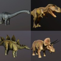 Dinosaur Collection (Low Poly)