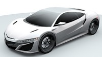Acura NSX lowpoly