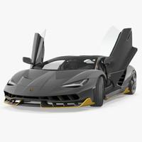 Hypercar Lamborghini Centenario 2017 Rigged