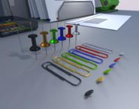 Pin Needles Pins Paperclips and Thumbtacks PACK